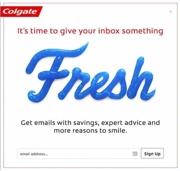 захват клиентов Colgate