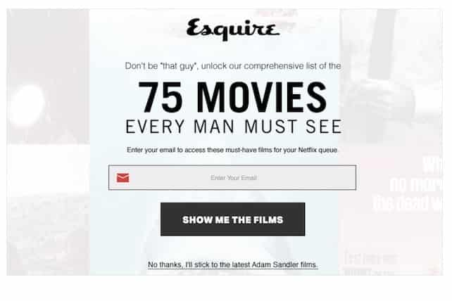 Esquire показывает вам полноэкранное всплывающее окно